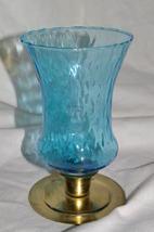 Homco Aqua Diamond Pattern Votive Cup Home Interiors - $8.00
