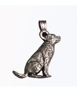Labrador (sitting) Pendant Dog Harris Fine Pewter Made in USA jewelry - $10.99