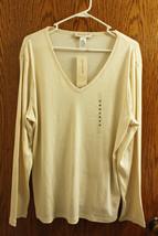 NWT Jones New York Sport Women's Ivory Cream Ribbed Shirt - Size 3X - $24.99