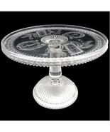 Antique Glass Cake Stand Prayer Rug Good Luck Adams c. 1881 Crystal Wedding - $140.25