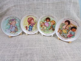 4 Vintage Collectable Mothers Day Small Plates By Avon 1981 - 1984 w/stands - $7.22