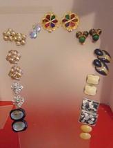 Vintage Clip Earrings 11 Pair  - $9.90