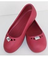 Crocs prima women's ballerina flat slip on shoes pink size 5 - $15.71
