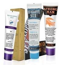 3PC Strong Man XXL Big Dick Enlargement Cream Sx Massage Oil Long Time S... - $27.89