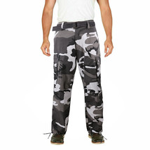 Men's Camo Military Tactical Work Combat Army Slim Fit Twill Cargo Pants image 2