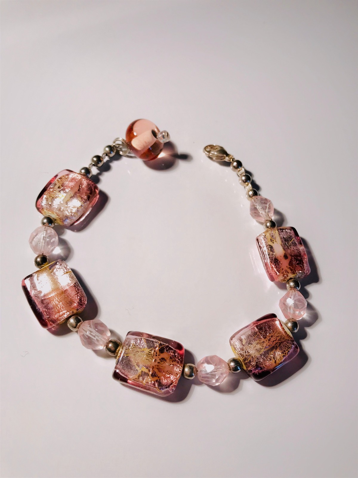 """Unique """"In The Pink"""" Handcrafted Bracelet Brand NEW!"""