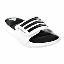 ADIDAS SUPERSTAR SURROUND MEMORY FOAM SLIDE SANDALS MEN SHOES MILK SIZE 15 NEW image 1