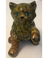 """VINTAGE CAT FIGURINE CERAMIC 7"""" - $11.30"""