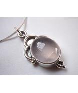 Rose Quartz 925 Sterling Silver Necklace Pink New Corona Sun Jewelry - $18.80