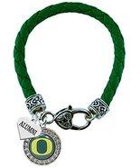 Holly Road Oregon Ducks Alumni Charm Green Leather Bracelet Jewelry - $16.82