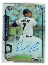 Autographed Rymer Liriano 2015 Bowman Chrome Refractor Signed RC Rookie ... - $6.90