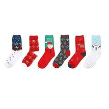 5 Pack Men's Socks Cotton Socks Crew Socks Calf Socks Christmas Sock Fall/Winter