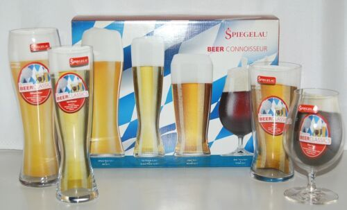 Spiegelau 4991694 Beer Connoisseur Assortment of 4 Different Types of Glasses