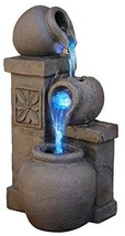 Rustic Vase Indoor Water Fountain Tabletop Waterfall Relaxation Cascadin... - $21.79