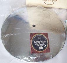Vtg AMERICAN WALNUT- WOOD/GLASS/CHROME-Condiment Caddy/ Relish Tray/Carousel-NEW image 4