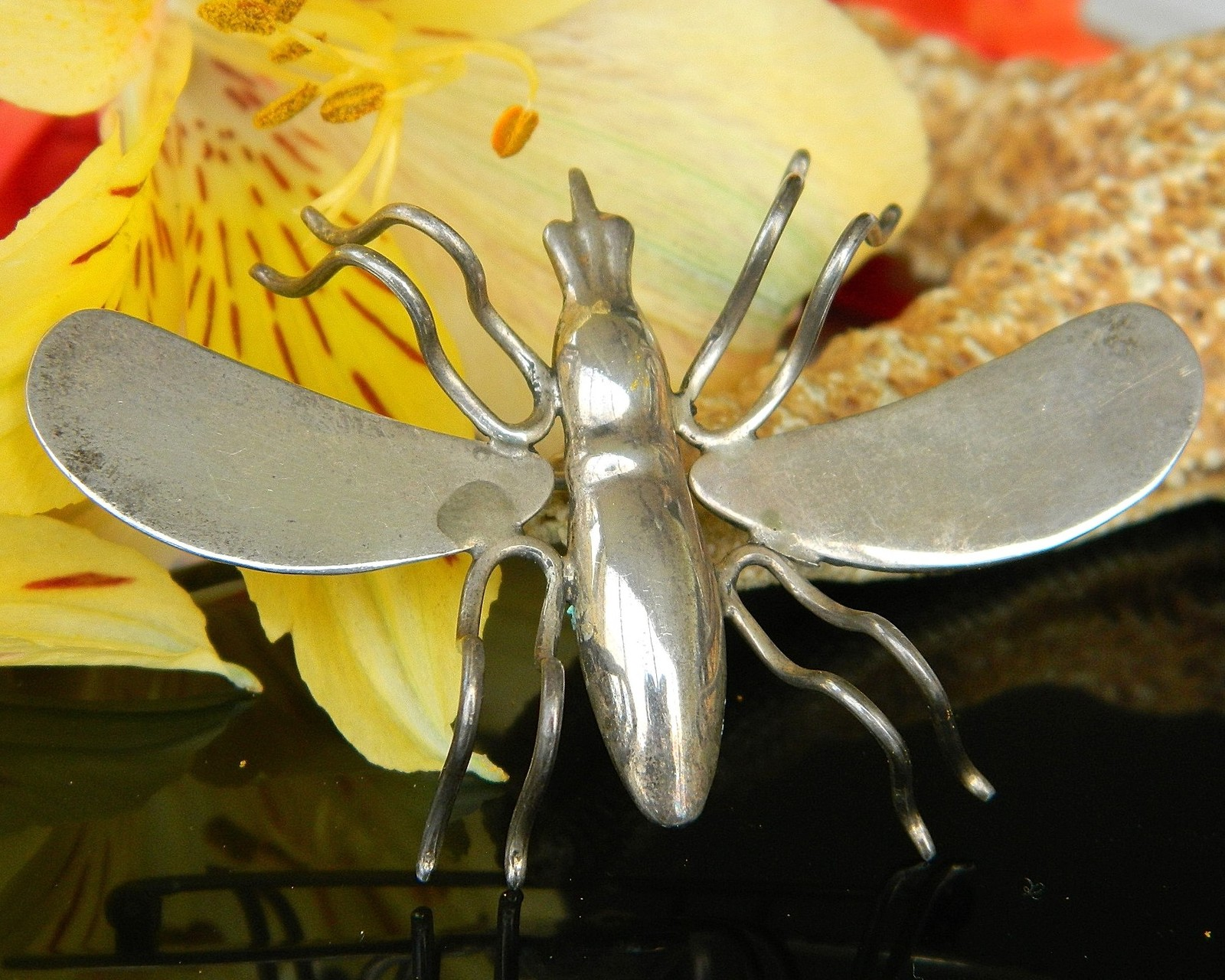 Primary image for Vintage Sterling Silver Insect Bug Brooch Pin Taxco Mexico TG 189