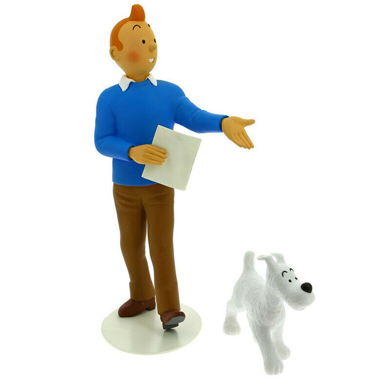 "Tintin and Snowy resin statue figurine  Musée Imaginaire"" collection Tintin"