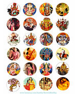 hindu krishna gods goddess printable collage sheet clipart digital downl... - $3.99