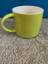 Starbucks Coffee 2012 Green White  Etched Logo Stackable Tea Mug Cup 14 oz - $49.49