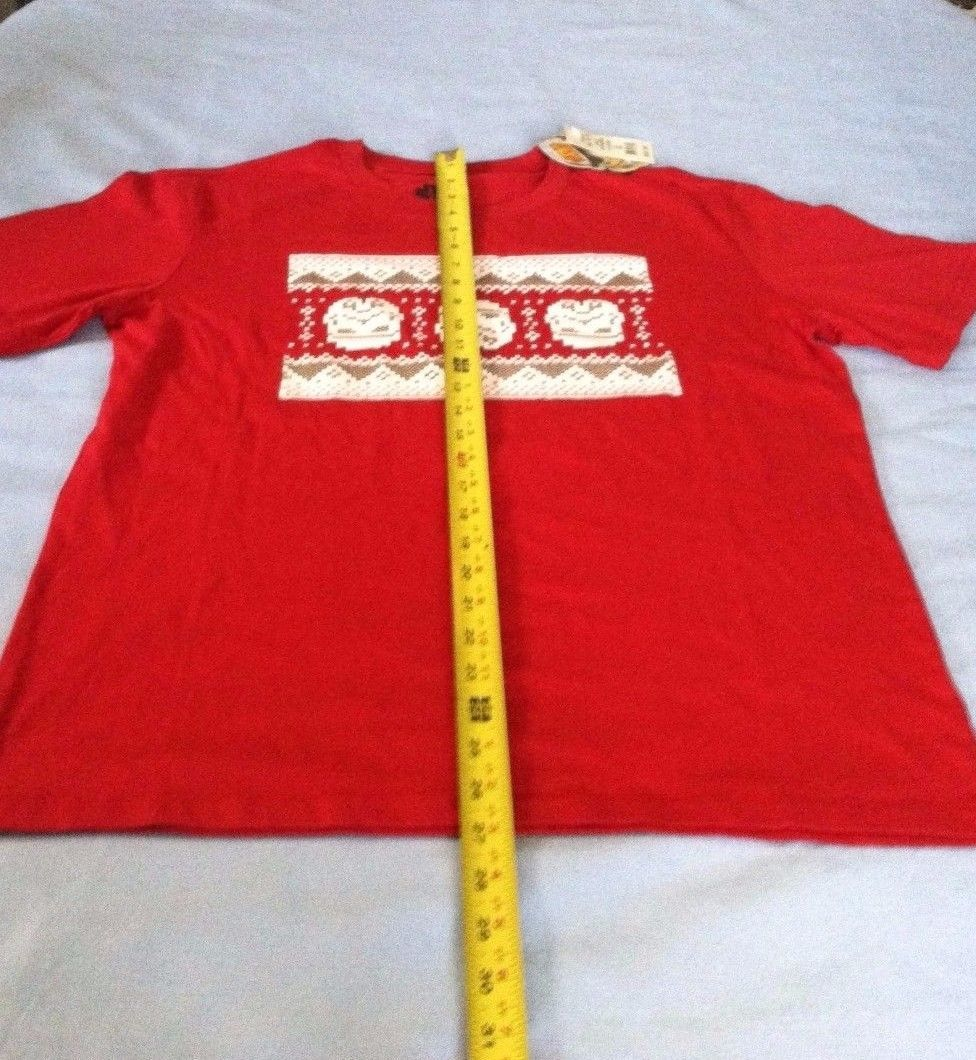 Star Wars S Small Shirt Tee Red Ugly Christmas Sweater Short Sleeve Cotton B4