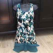 GREEN MUTED GRAPHIC CAMI TOP DRESS S - $24.00