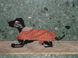 New Handmade Brown & Plaid Black Dog Jacket - $12.86