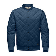 The North Face Men Blue Grey Reversible Quilted Bomber Jester Jacket Coat S - $99.99