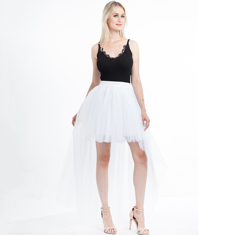 White Hilo Over-skirt / Wedding Bridal Wear Tulle Skirt / White Open Tulle Skirt
