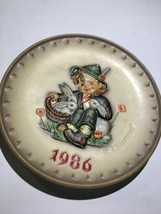 Vintage Goebel M.J. Hummel Boy Basket Bunnies Plate W Germany Figure - $15.99