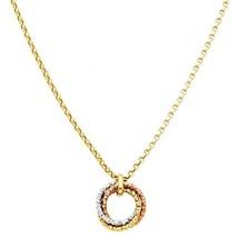 14k Multi Tone Gold Design Diamond Cut Sparkling Celtic Love Knot Charm ... - $171.66