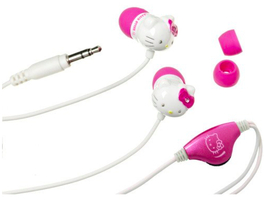 Hello kitty earbud headphones jewel bows d thumb200