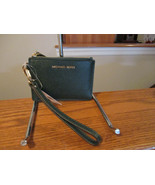 Michael Kors Money Pieces Small Coin Purse Credit Card Racing Green Key ... - $47.51