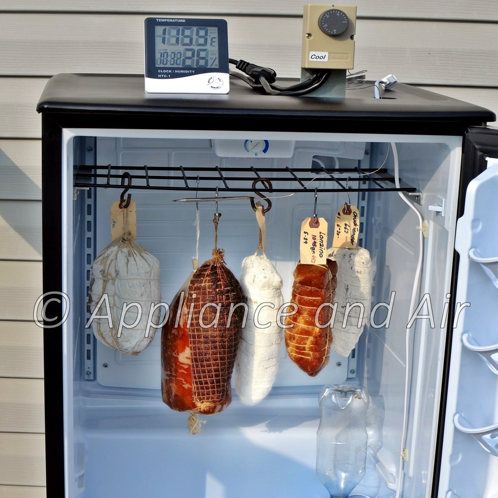 Fridge with cured meat 1800