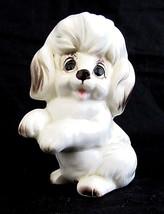 """Vintage Josef Originals Poodle Dog Figurine Porcelain White Puppy 3"""" Japan - $19.79"""