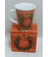 Christmas Holiday Ceramic Coffee Mug Giftware in Box by CTA - New Old Stock - $14.98