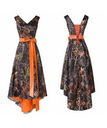 New Short Hi-Low Camo Bridesmaid Dress Camouflage Wedding Prom Party Gow... - $45.42