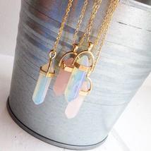 Unique Aesthetic Hexagonal Healing Crystal Necklace - Fashion Quartz Hea... - $16.99