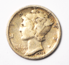 1924 S 10c Mercury Winged Liberty Silver Dime Ten Cents San Francisco - $32.07