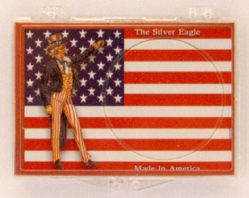 ASE Uncle Sam with Flag 2x3 Snap Lock Coin Holder, 3 pack