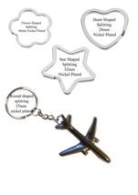 Boeing 767-300 Pewter Emblem on a split-ring Flower Heart Star keyring c... - $11.71