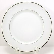 "Mikasa Citation Salad Plate 7.5"" White Platinum Trim 5428 - $7.92"