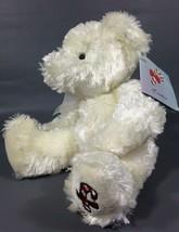 "Russ Candie Plush White Teddy Bear Christmas Bear Candy Cane 8"" NWT - $18.00"