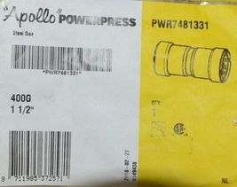 Apollo Powerpress Gas Carbon Steel Press Coupling With Stop PWR7481331 image 4