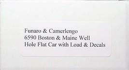 Funaro & Camerlengo HO Boston & Maine well hole flat car with load Kit 6590 image 3