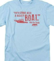 Jaws Bigger Boat T-shirt Free Shipping retro 70's 80's movie cotton tee UNI273 image 3