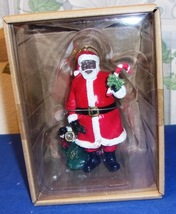 Christmas African American Santa Hanging Ornament Decoration - $16.95