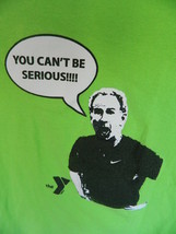 John Mcenroe YMCA You Cant Be Serious Graphic Tee Shirt Neon Green Sz Small - $21.00