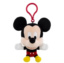 Disney Parks Mickey Mouse Big Face Plush Keychain New with Tags - $19.79