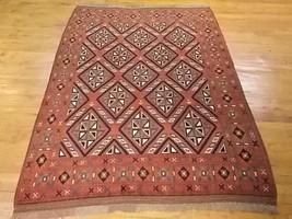 Unusual Persian Caucasion Design Runner Rug 4.10 X 6.8 LA74 - $380.00