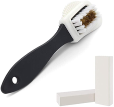 Suede Brush,Suede  Nubuck 4-Way Leather Brush Cleaner + 2 Erasers- Premi... - $10.88